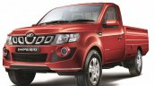 Mahindra Imperio Single Cab red front quarter