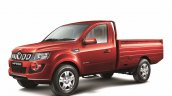 Mahindra Imperio Single Cab red unloaded side