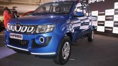 Mahindra Imperio blue front quarter double cab