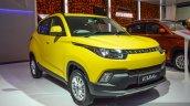 Mahindra KUV100 Yellow front quarter at Auto Expo 2016