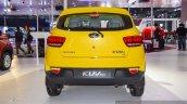 Mahindra KUV100 Yellow rear at Auto Expo 2016