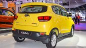 Mahindra KUV100 Yellow rear quarter at Auto Expo 2016