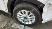 Mahindra KUV100 brushed aluminium alloy wheel spied