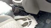 Mahindra KUV100 front centre footwell spied