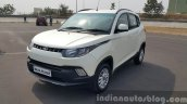 Mahindra KUV100 front quarter first drive review