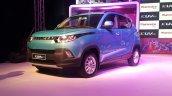 Mahindra KUV100 front quarter live image