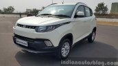 Mahindra KUV100 front quarter low first drive review