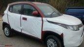 Mahindra KUV100 front quarter spied