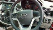 Mahindra KUV100 steering wheel with audio controls spied