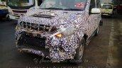 Mahindra Quanto facelift front fascia bumper spied