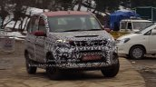 Mahindra Quanto facelift front spied testing