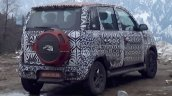 Mahindra Quanto facelift rear three quarter spied testing