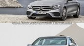 Mercedes E Class (W213) vs Mercedes E Class (W212) front quarter Old vs New