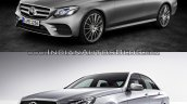 Mercedes E Class (W213) vs Mercedes E Class (W212) front three quarter Old vs New
