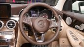 Mercedes GLC steering wheel at Auto Expo 2016