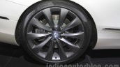 Mercedes S-Class Cabriolet alloy wheel at Auto Expo 2016