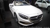 Mercedes S-Class Cabriolet front three quarters at Auto Expo 2016
