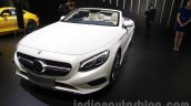 Mercedes S-Class Cabriolet front three quarters right at Auto Expo 2016