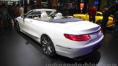 Mercedes S-Class Cabriolet rear three quarters at Auto Expo 2016