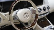 Mercedes S-Class Cabriolet steering wheel at Auto Expo 2016