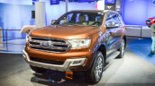 New Ford Endeavour front three quarter at Auto Expo 2016