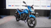 New TVS Victor blue front quarter  launched