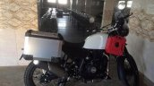 Royal Enfield Himalayan white side with jerry cans spied