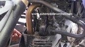 TVS Apache 200 oil-cooler radiator spied