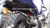 TVS Apache 200 rear tyre exhaust spied