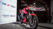 TVS Apache RTR 200 4V front three quarter launched