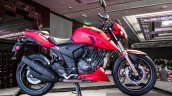 TVS Apache RTR 200 4V matte red side launched