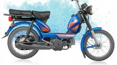 TVS XL 100 4-stroke blue