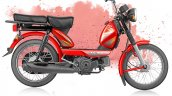 TVS XL 100 4-stroke red