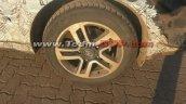 Tata Hexa alloy wheel camouflaged spyshot