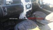 Tata Hexa interior dashboard camouflaged spyshot