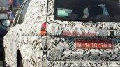 Tata Hexa rear camouflaged spyshot