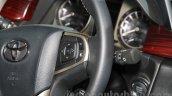 Toyota Innova Crysta steering mounted controls at Auto Expo 2016