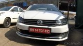 VW Vento with new headlight clusters front spotted