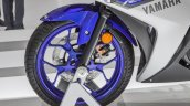 2015 Yamaha R3 alloy wheel at Auto Expo 2016