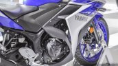 2015 Yamaha R3 engine at Auto Expo 2016