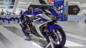 2015 Yamaha R3 front quarter at Auto Expo 2016
