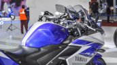 2015 Yamaha R3 fuel tank at Auto Expo 2016