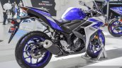2015 Yamaha R3 rear quarter at Auto Expo 2016