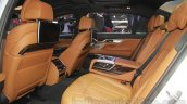 2016 BMW 7 Series rear seat at Auto Expo 2016