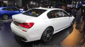 2016 BMW 7 Series rear three quarter at Auto Expo 2016