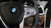 2016 BMW 7 Series steering mounted controls at Auto Expo 2016