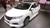 2016 Honda City Black interior with accessories front three quarters right at Auto Expo 2016