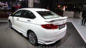 2016 Honda City Black interior with accessories rear three quarters left at Auto Expo 2016