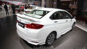 2016 Honda City Black interior with accessories rear three quarters right at Auto Expo 2016