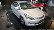 2016 Hyundai Verna front three quarters left at Auto Expo 2016